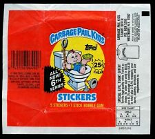 Garbage Pail Kids Series 6 Stickers Wrapper #W53