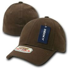 Brown Solid Blank Plain Flex Curved Baseball Ball Fit Fitted Cap Hat - L / XL