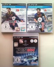 FIFA 14 CALCIO + FIFA 13 2013 + PRO EVOLUTION SOCCER 2014 PES 14 ps3 raccolta
