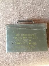 Steel Ammunition Ammo Box SMALL Vintage Original Army Shell Container
