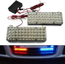 2 in1 Car Warning lights 98LEDS Red Blue Strobe Emergency Decorative Lamp 12V