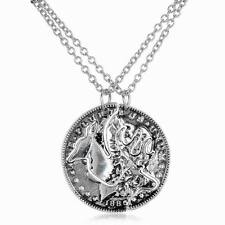2pcs Necklace Set of Browning Deer Coin Pendants Best Friends Fashion Couples