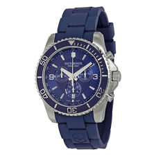 Victorinox Swiss Army Maverick Chronograph Blue Dial Blue Rubber Mens Watch