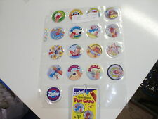 POGS  ZIPLOC FINGERMAN FUN CAPS COMPLETE SET OF ALl 17+ CHECKLIST AWESOME