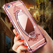 Luxury Crystal Diamond Bling Stand SOFT TPU Case Cover for iPhone Samsung Phones