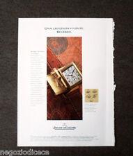 [GCG]  P531 - Advertising Pubblicità -1996- JAEGER LE COULTRE REVERSO