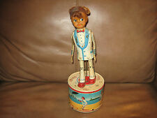 "Haji Strutting ""My Fair Dancer"" Battery Operated Tin Toy"