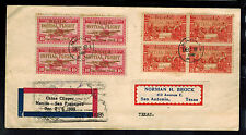1935 Manila Philippines First Flight Cover FFC to USA Pan American China Clipper