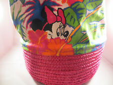 Disney - Minnie Mouse Shoulder Duffel Storage Bag With Straw Base - NEW w/Tag
