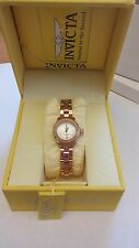 Invicta Women's Quartz Diamond Accent Rose Tone Bracelet Watch 16948 *Reduced
