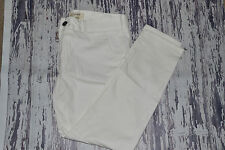 CURRENT ELLIOTT THE CAPTAIN TROUSER WOMENS JEANS WHITE SZ 27 NEW