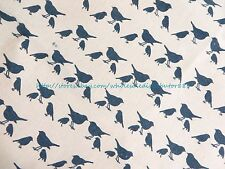 "US SELLER-1 yard material for sale blue bird 59"" wide cotton linen sewing fabric"