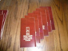 1982 Oldsmobile Color Chip & Fabric Folder - 6 for 1 Price Lot Package