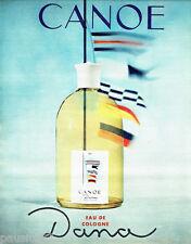 PUBLICITE ADVERTISING 036  1964  Canoe  eau de Cologne Dana