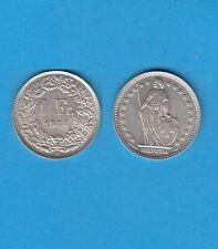 § Suisse Swiss Confédération Helvétique 1 Franc en argent 1944 Exemplaire N° 2