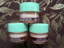 3  x Clinique All About Eyes Reduces Puffs Circle .21 oz Each