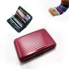 Aluma Wallet RFID Blocking Hard Case Credit Cards Holder Protector New Red CC