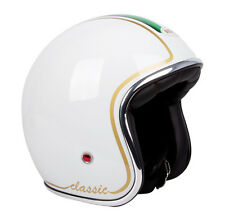 LOW PROFILE RXT White Italian CLASSIC Cruiser Scooter Road Helmet Vespa Piaggio