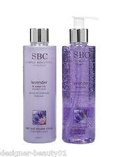 SBC Lavender Gel 250ml + Lavender & Water Lily Shower Bath Creme Duo