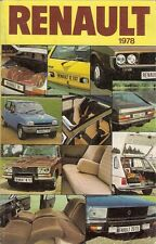 Renault 4 5 6 12 14 16 15 17 20 30 1977-78 UK Market Sales Brochure