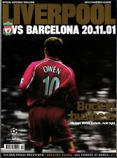 EC I CHAMPIONS LEAGUE 2001/02 FC Liverpool - FC Barcelona, 20.11.2001