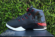 NIKE AIR JORDAN 17 RETRO XVII SZ 13 CHICAGO BULLS OG BRED BLACK RED 832816 001