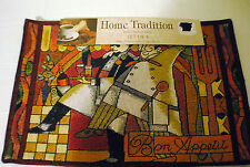 "NEW Tapestry Placemats (4) "" BON APPETIT"" ~Home Tradition~ SIZE 13x19 1/4"