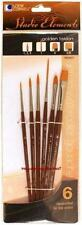 Loew Cornell STUDIO ELEMENTS 1024937 GOLDEN TAKLON Brush Set ASSORTED