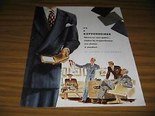 1947 Print Ad Kuppenheimer Mens Clothes Well Dressed Men & Lady in Office