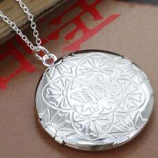 SILBER Medallion Foto Halsketten Anhänger Amulett offnen Glücksbringer Medaillon