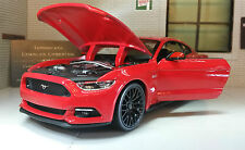 Ford Mustang 2015 2.3 3.7 5.0 V8 GT Red 1:24 Scale Diecast Super Model Car 31508