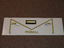 EIGHT BALL DELUXE Pinball Apron Decal Set LICENSED