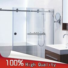 Frameless Bath rooms Shower Sliding doors Whole set Hardware 304 stainless steel