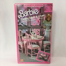 Barbie Sweet Roses Furniture Vintage 1987 Dining Table & Chairs
