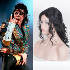 Michael Jackson cosplay costume party wig full wigs long messy curly black
