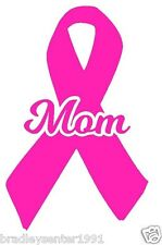 Pink Breast Cancer Awareness Ribbon Decal Car Window Laptop Vinyl Sticker Mom