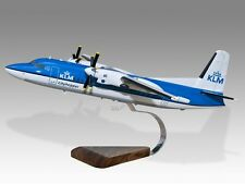 Fokker 50 KLM Cityhopper Wood Desktop Airplane Model