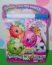 Shopkins Magic Ink Pictures Imagine Ink mess free marker color + activity New