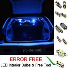 New Interior Car LED Bulbs Light KIT Package Blue 10000K 501 W5W For VW GOLF MK5