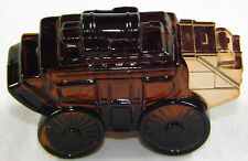 Avon Wild Country Stage Coach Wagon Full AfterShave Collectable Glass Bottle