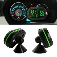 Car LED Backlight Digital Display 2 Thermometer Voltmeter Alarm Clock Date QT