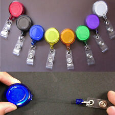 Retractable Reel Recoil 5x ID Badge Name Tag Key Card Holder Belt Clip CHI