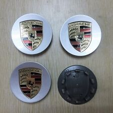 4Pcs CAR WHEEL CENTER CAP HUB LOGO EMBLEM BADGE 76MM FOR PORSCHE SILVER