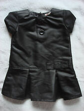 Les Bebes de Floriane Baby Girl's Black faux Leather Fashion Dress 2 years ans