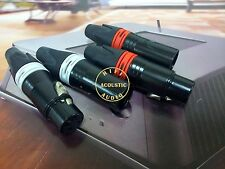 4Pcs Copper Gold Plated XLR Connector Plug Audio Cable Balance 3Pin