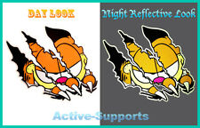 Garfield Cat Claw REFLECTIVE Car Sticker Decal Window VW Smart Fiat Mini Polo