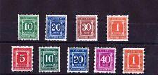 KENYA 1971-73 POSTAGE DUES SG D19-D28 MNH.