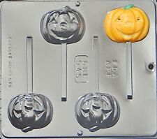 Pumpkin Jack O Lantern Lollipop Chocolate Candy Mold Halloween  945 NEW
