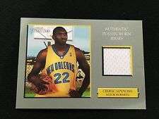CEDRIC SIMMONS WORN JERSEY NEW ORLEANS HORNETS TURKEY RED 2006 BASKETBALL CARD