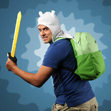 Adventure Time Finn's Backpack School Bag with Hat Backpack Green Shoulder Bag